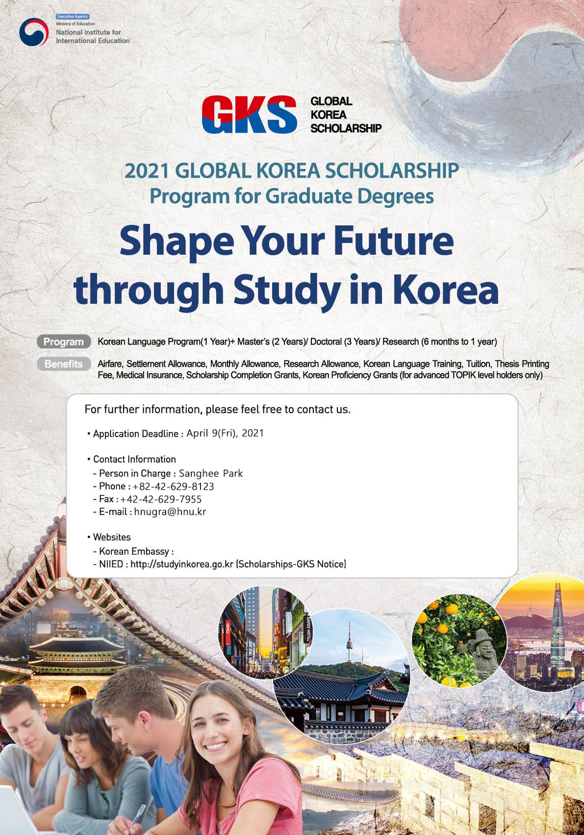 2021 GLOBAL KOREA SCHOLARSHIP Program fo...